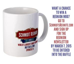 Win a free Schmidt Reunion mug