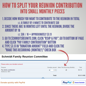 Split Contribution into Monthly Recurring Payments