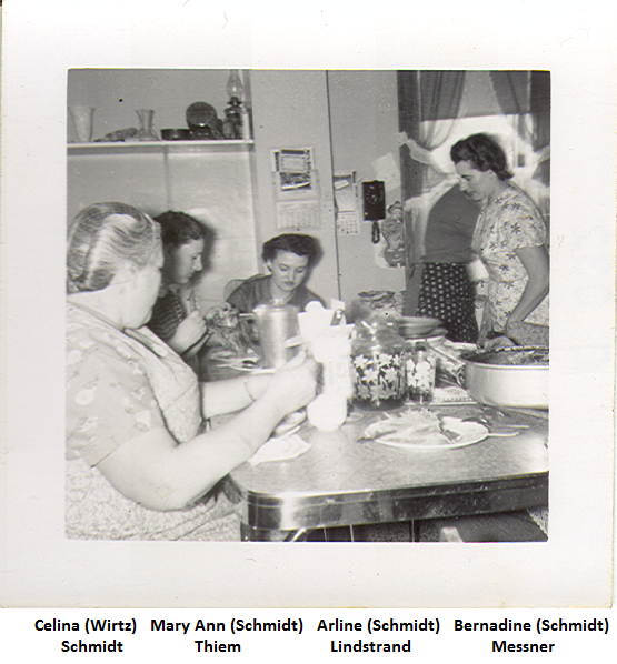 L-R Celina MaryAnn Arline and Bernadine Schmidt
