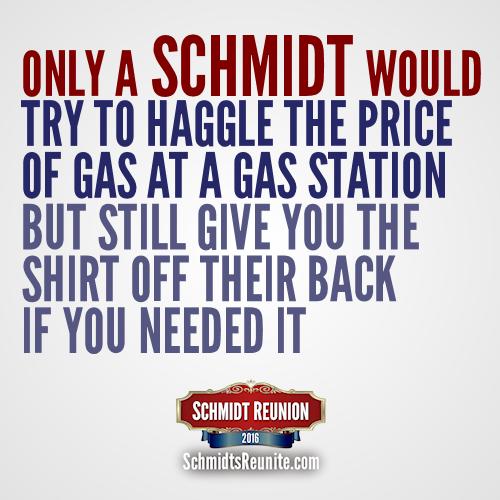 Only a Schmidt - haggle shirt