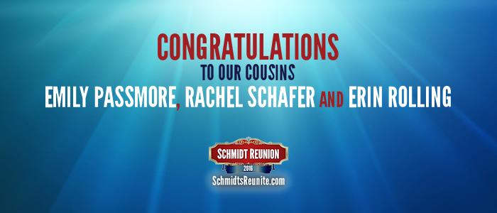 Congrats - Emily Passmore Rachel Schafer Erin Rolling