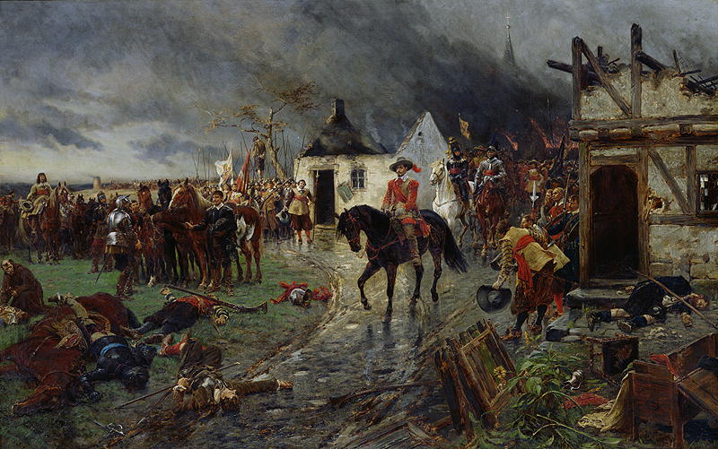 """Wallenstein: A Scene of the Thirty Years' War,"" by Ernest Crofts Wikimedia Commons"