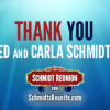 Thanks to Ed & Carla Schmidt!