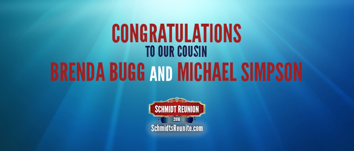 Congrats - Brenda and Michael Simpson