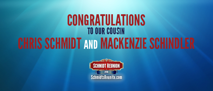 Congrats - Chris and Mackenzie Schmidt