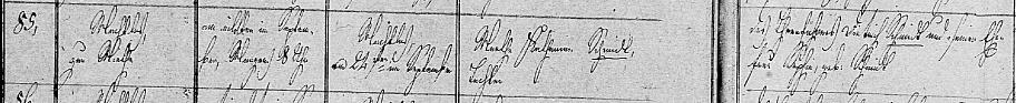 Martha Catharina Schmidt baptism record 1837