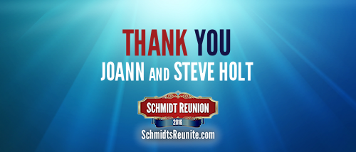 Thank You - Joann and Steve Holt