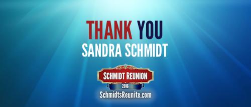 Thank You - Sandra Schmidt