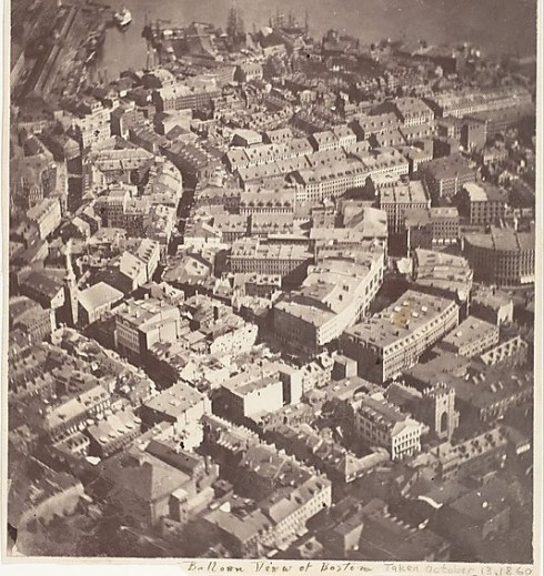 Balloon View of Boston 13 Oct 1860
