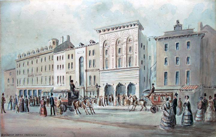Benjamin Champney's ''New Boston Theater-Washington Street-1850'' (Boston)