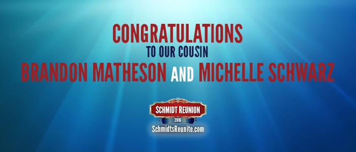 Congrats - Brandon and Michelle Matheson