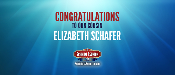 Congrats - Elizabeth Schafer