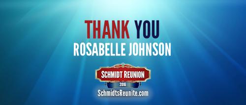 Thank You - Rosabelle Johnson