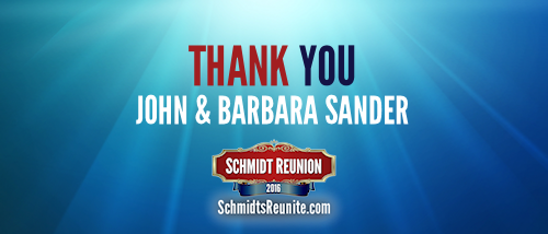 Thank You - John and Barb Sander