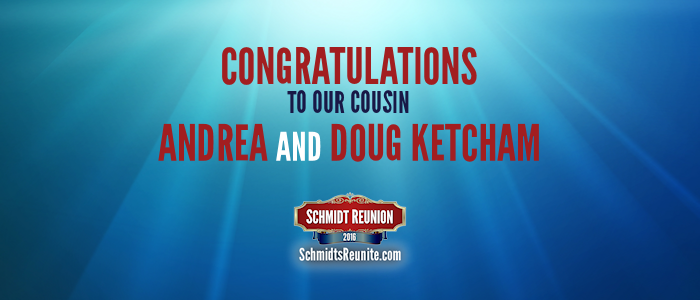 Congrats - Andrea and Doug Ketcham