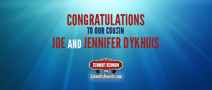 Congrats - Joe and Jennifer Dykhuis