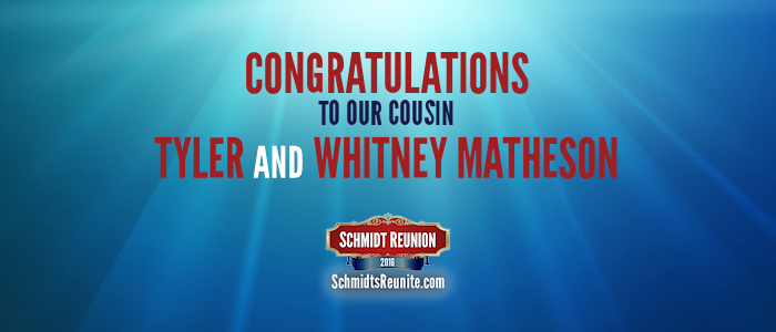 Congrats - Tyler and Whitney Matheson