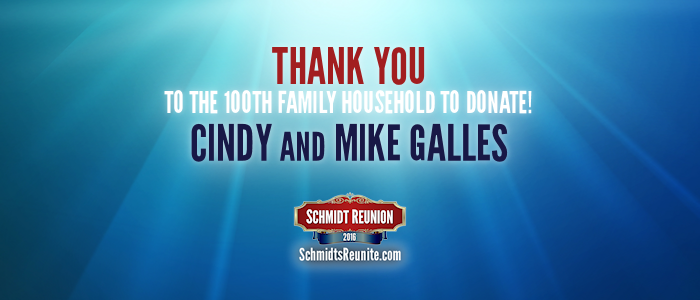 Thank You - Cindy and Mike Galles