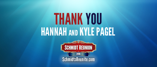 Thank You - Hannah and Kyle Pagel