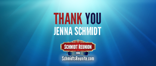 Thank You - Jenna Schmidt