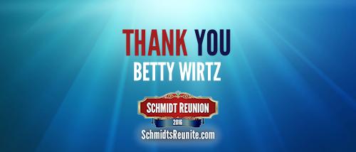 Thank You - Betty Wirtz