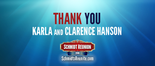 Thank You - Karla and Clarence Hanson