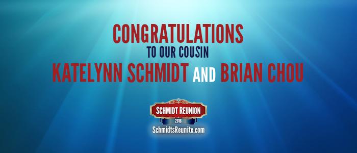 Congrats - Katelynn and Brian Chou