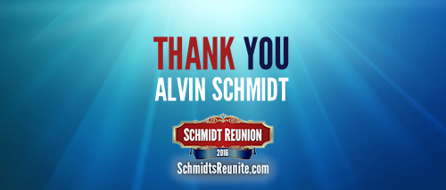 Thank You - Alvin Schmidt