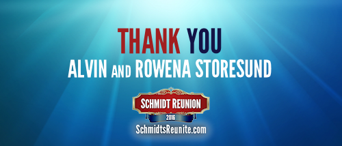 Thank You - Alvin and Rowena Storesund