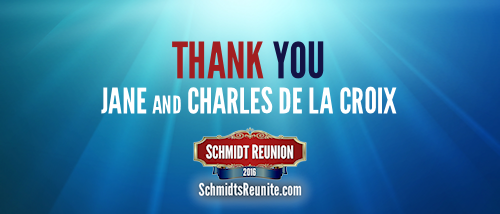 Thank You - Jane and Charles de la Croix