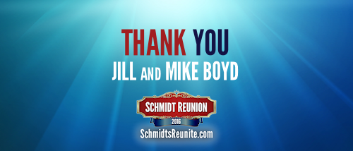 Thank You - Jill and Mike Boyd