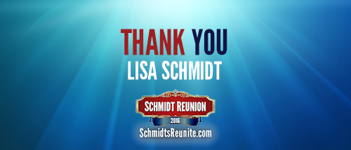 Thank You - Lisa Schmidt