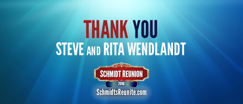 Thank You - Steve and Rita Wendlandt