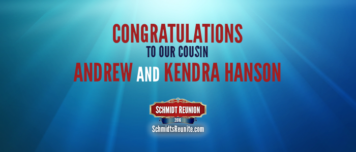 Congrats - Andrew and Kendra Hanson
