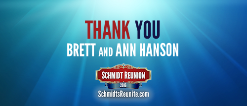 Thank You - Brett and Ann Hanson